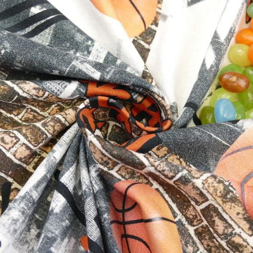 Jersey sweat bouclettes Basket Ball d'Hilco (2.1€/10cm)