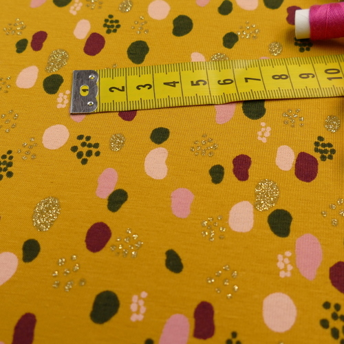 1 coupon 1.6m Jersey de coton pois et brillants by Poppy