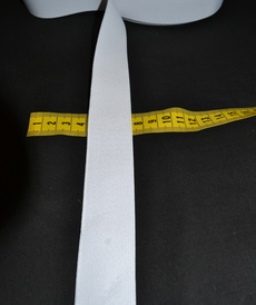 Ruban élastique 30mm blanc