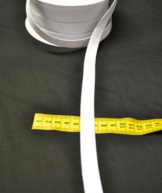 Ruban élastique 15mm blanc