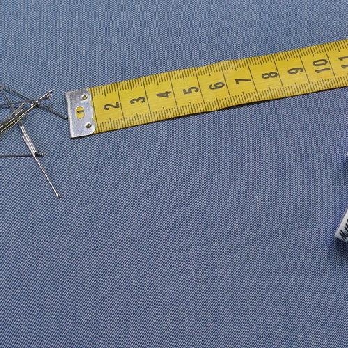 Tissu gabardine extensible bleu jeans (1€/10cm)