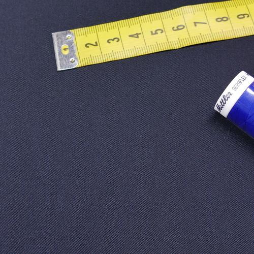 Tissu gabardine extensible marine (1€/10cm)