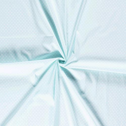 Coton coeur blanc fond menthe