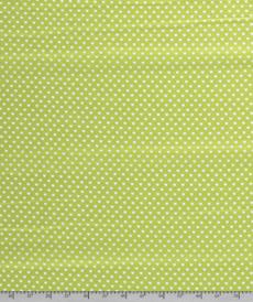 Coton coeur blanc fond kiwi