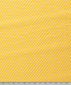 Coton coeur blanc fond jaune