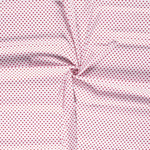 Coton coeur rouge sur fond blanc