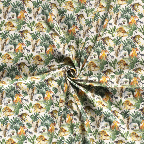 Double gaze de coton animaux de la savane