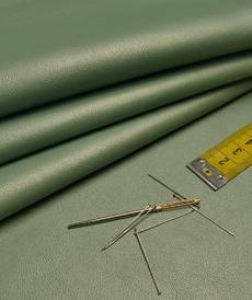 Similicuir  vert ancien doublé à l'arrière (1.2€/10cm)