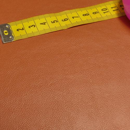 Similicuir brique doublé à l'arrière (1.2€/10cm)