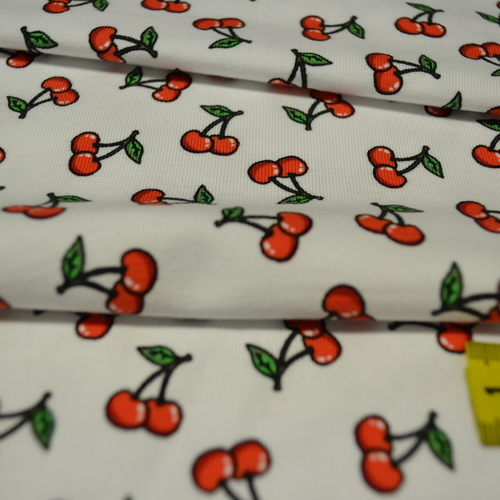 Jersey de coton imprimé digital cerises Stenzo
