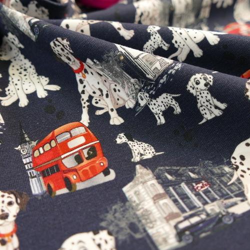 Jersey de coton imprimé digital Dalmatiens en ville Stenzo