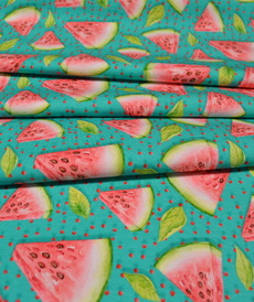 Jersey de coton imprimé digital pastèque Stenzo