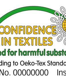 Tissu coton imprimé cercles marine/beige/taupe Stenzo (0.9€/10cm)