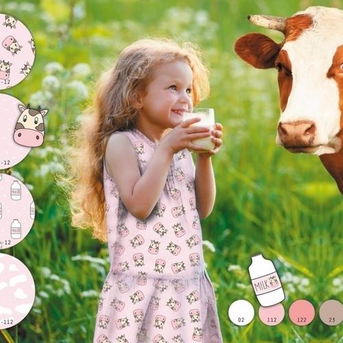 Jersey de coton imprimé digital vaches Stenzo (10cm/1.4€)