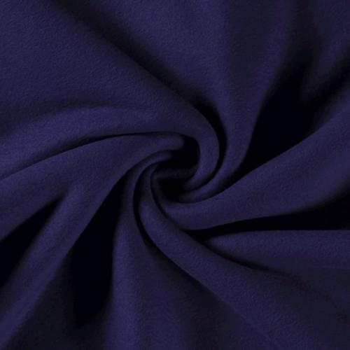 Polaire coton brossé noir carbone (1.5€/10cm)