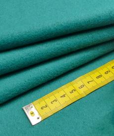 Polaire coton brossé vert émeraude (1.39€/10cm)