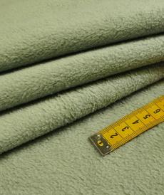Double fleece polaire coton vert poudré (1.5€/10cm)