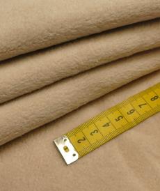 Double fleece polaire coton beige (1.5€/10cm)