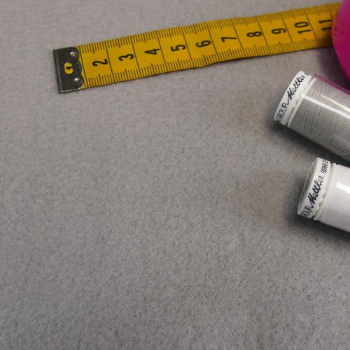 Polaire coton brossé gris clair (1.39€/10cm)