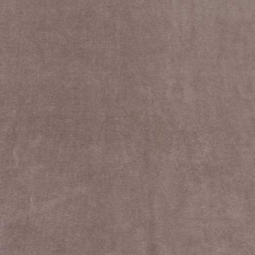 Jersey nicky velours marron taupe (1€/10cm)