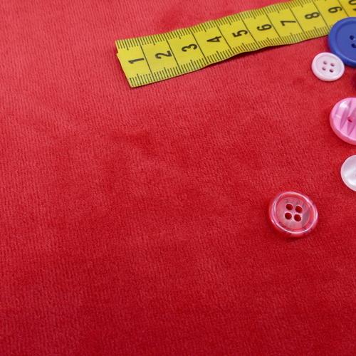 Jersey nicky velours rouge (1€/10cm)