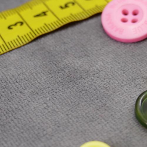 Jersey nicky velours gris (1€/10cm)