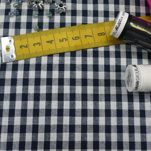 Coton vichy marine (0.9€/10cm)