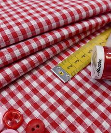 Coton vichy rouge (0.9€/10cm)