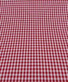 Coton vichy rouge