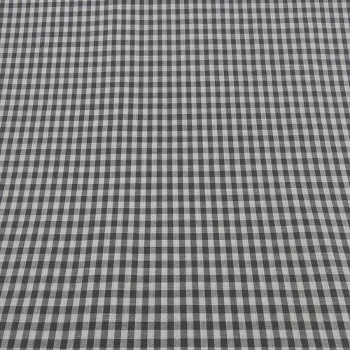 Coton vichy gris (0.9€/10cm)