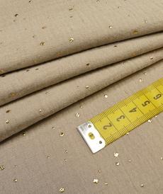 Double gaze à pois doré sable (0.95€/10cm)