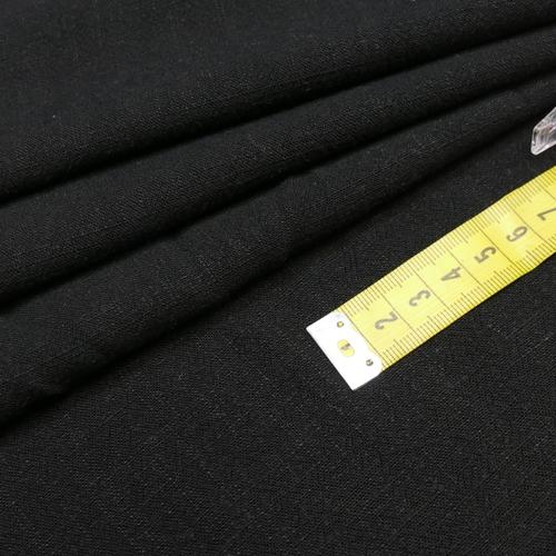 Tissu viscose lin souple couleur noir (1.2€/10cm)