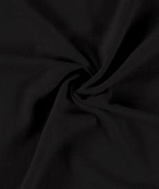 Tissu viscose lin souple couleur noir