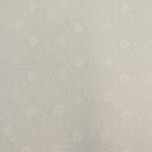 Double gaze brodée blanc (1.2€/10cm)