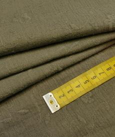Double gaze brodée kaki taupe (1.2€/10cm)