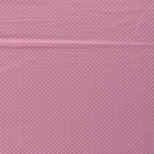 Jersey de coton à pois couleur rose