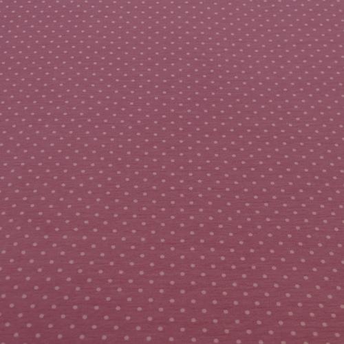 Jersey de coton à pois couleur rose (1.15€/10cm)