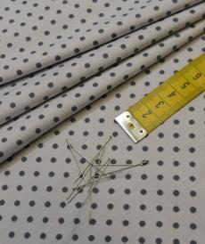 Jersey de coton à pois couleur gris clair pois gris foncés (1.15€/10cm)