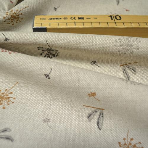 Coton panama look lin Libellules (1.05€/10cm)