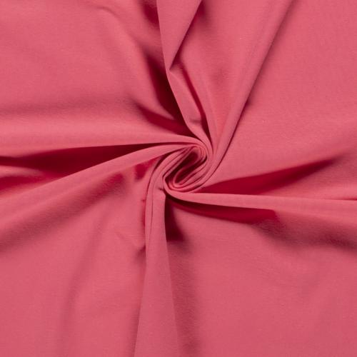 Jersey de coton uni rose foncé (0.99€/10cm)