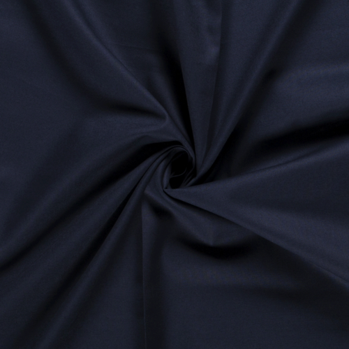 Tissu coton cretonne bleu marine