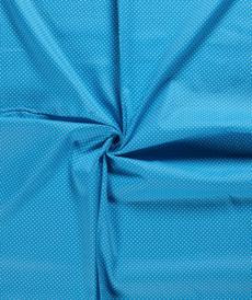 Coton popeline à pois aqua (0.75€/10cm)