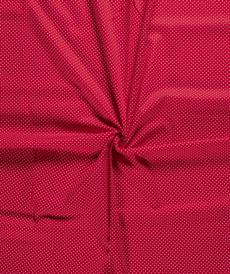 Coton popeline à pois rouge (0.75€/10cm)