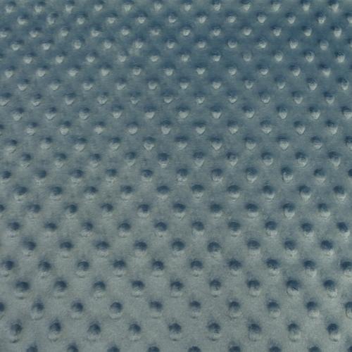 Coupon de Minky à pois jeans 70 cm