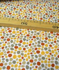Tissu coton imprimé galets multi-couleurs Stenzo