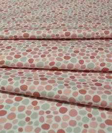Tissu coton imprimé galets roses Stenzo