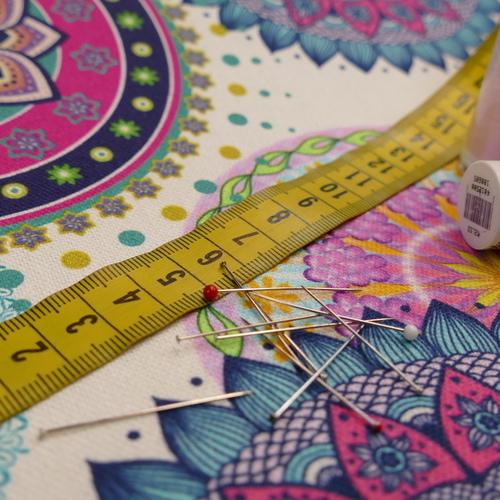 Coton panama Mandala imprimé digital (1.65€/10cm)