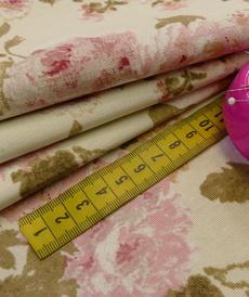 Tissu décoration Ottoman imprimé grandes fleurs (0.9€/10cm)