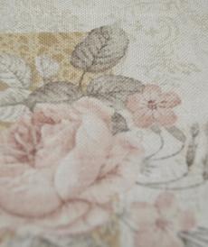 Coton canva imprimé romantique Rose