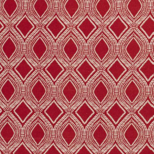 Coton panama look lin Losanges rouge bordeaux (1.05€/10cm)